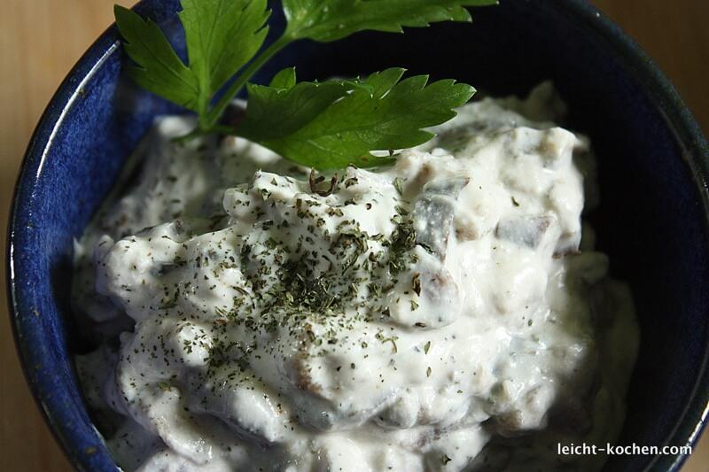 Aubergine mit Joghurt