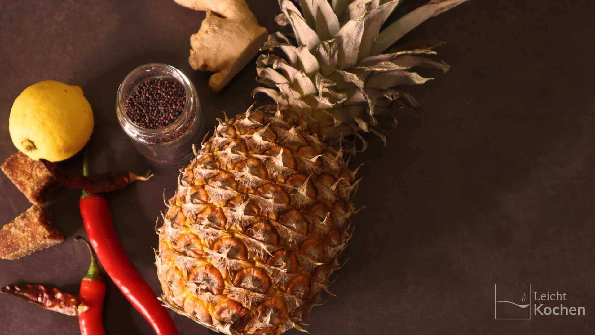 Zutaten für Ananas Chutney